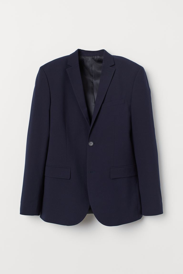 Slim Fit Blazer - Dark blue - Men | H&M US