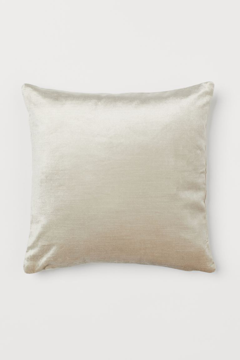 Copricuscino in velluto - Beige chiaro - HOME | H&M IT
