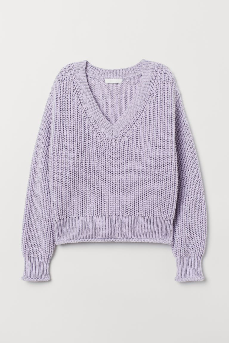 Knit Sweater - Light purple - Ladies | H&M US