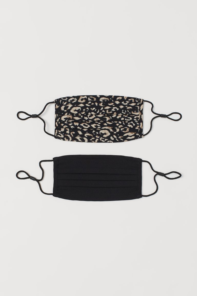 Non-medical Face Mask - Beige/leopard print - Ladies | H&M US