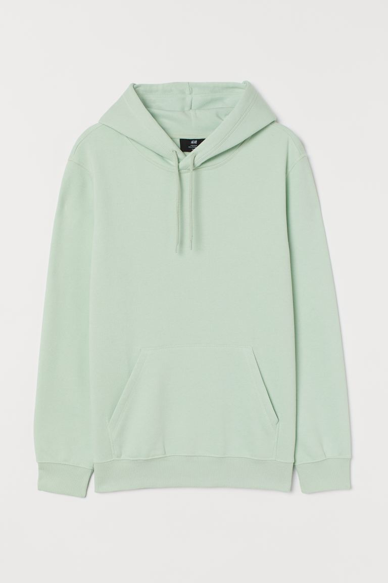 Sudadera con gorro Relaxed Fit - Verde menta - Men | H&M US