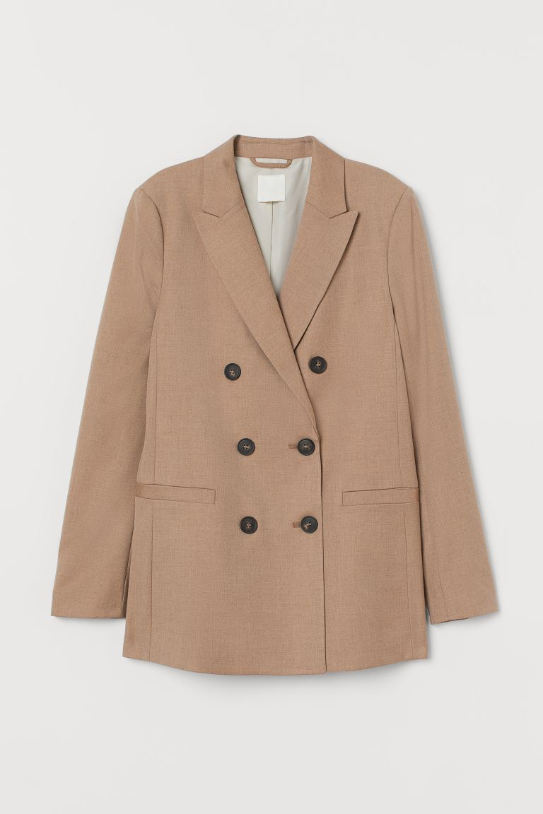 Zweireihiger Blazer - Dunkelbeige - Ladies | H&M AT