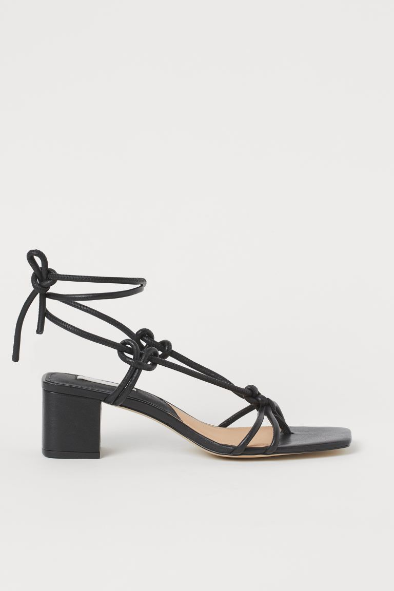 Leather sandals - Black - Ladies | H&M