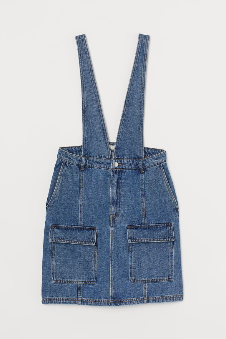 Denim salopettejurk - Denimblauw - DAMES | H&M BE