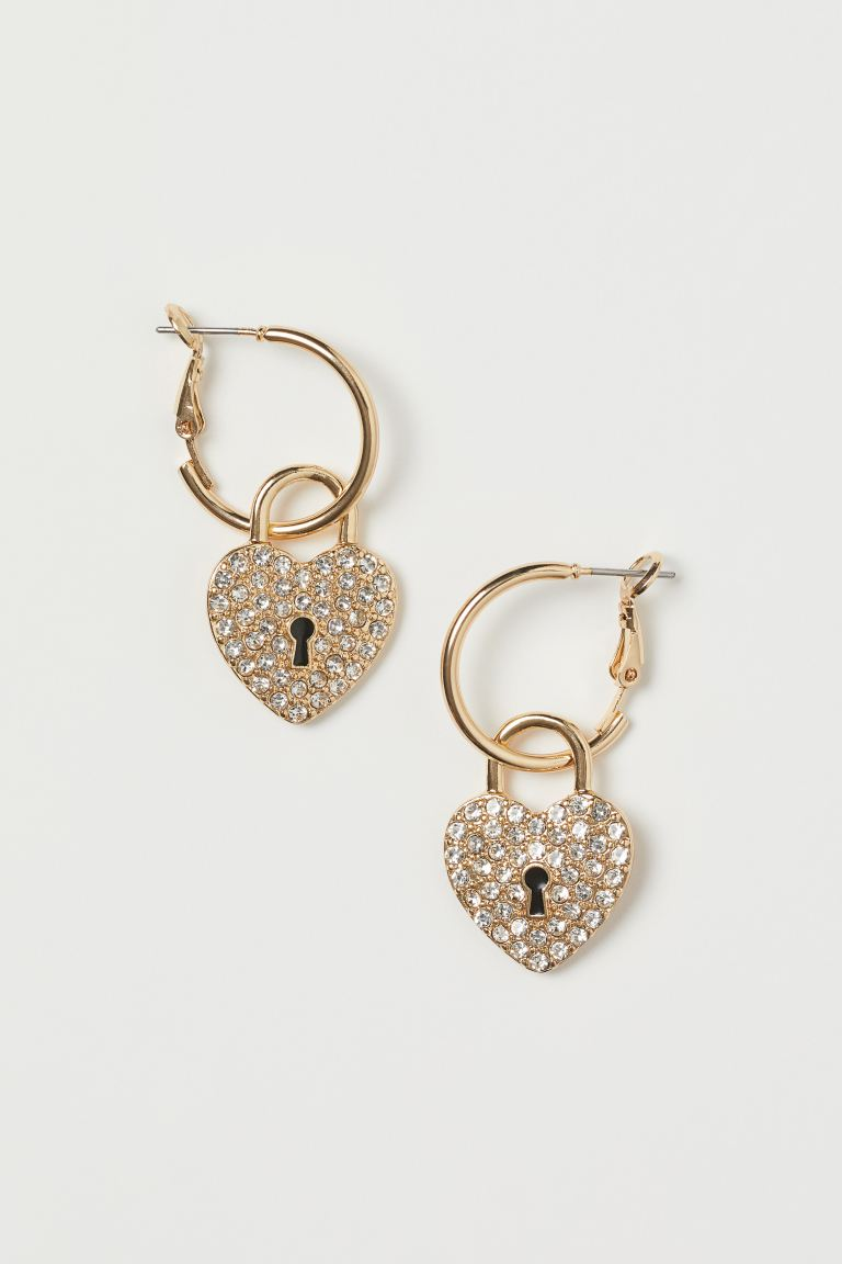 Earrings with Pendants - Gold-colored - Ladies | H&M CA