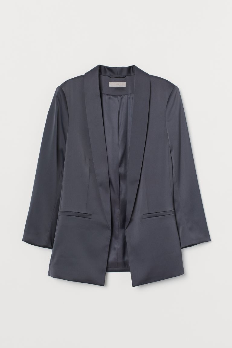 Straight-cut jacket - Dark grey - Ladies | H&M IE