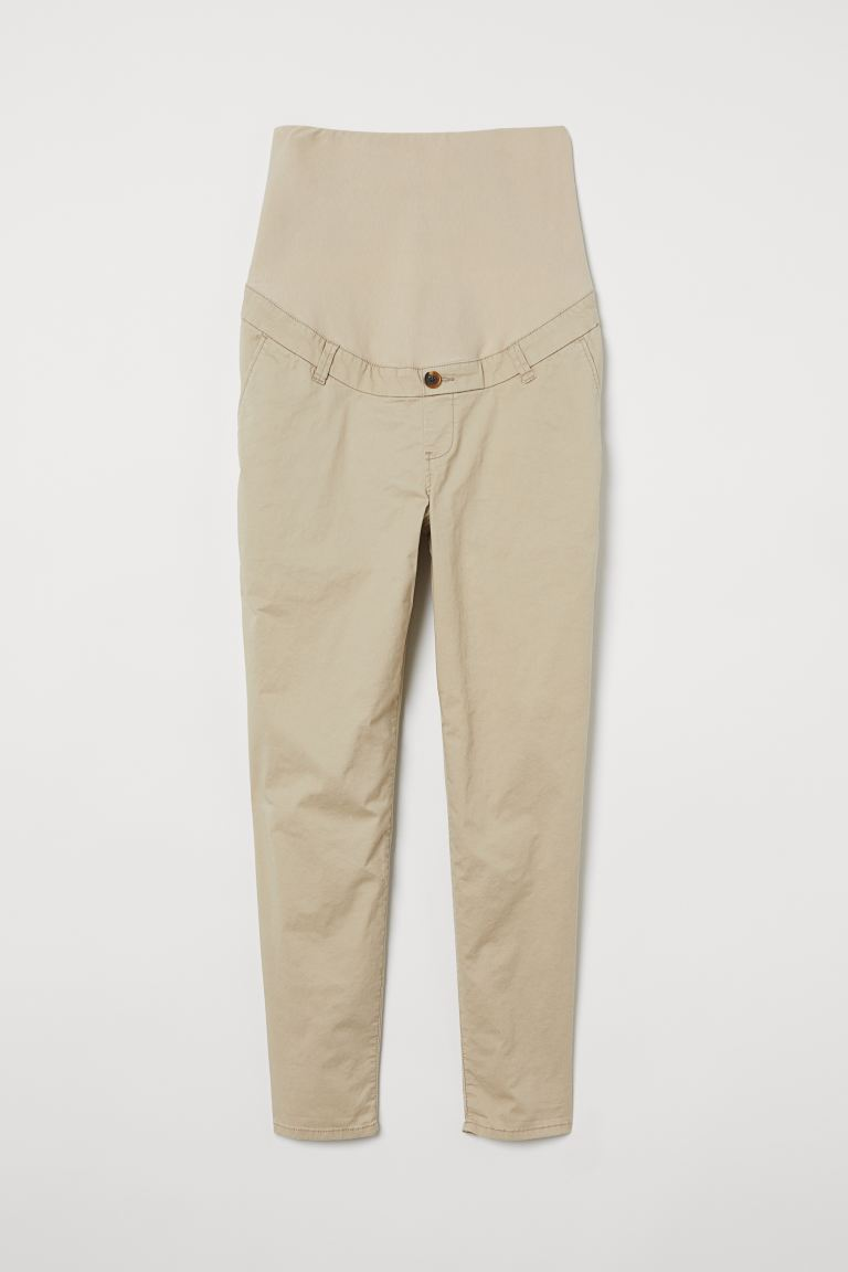 MAMA Chinos in twill di cotone - Beige chiaro - DONNA | H&M IT