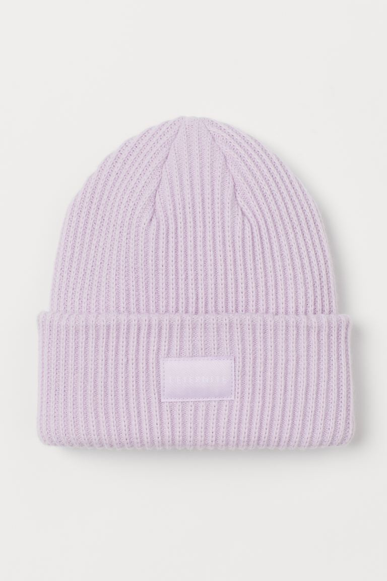 Rib-knit Hat - Light purple - Ladies | H&M US