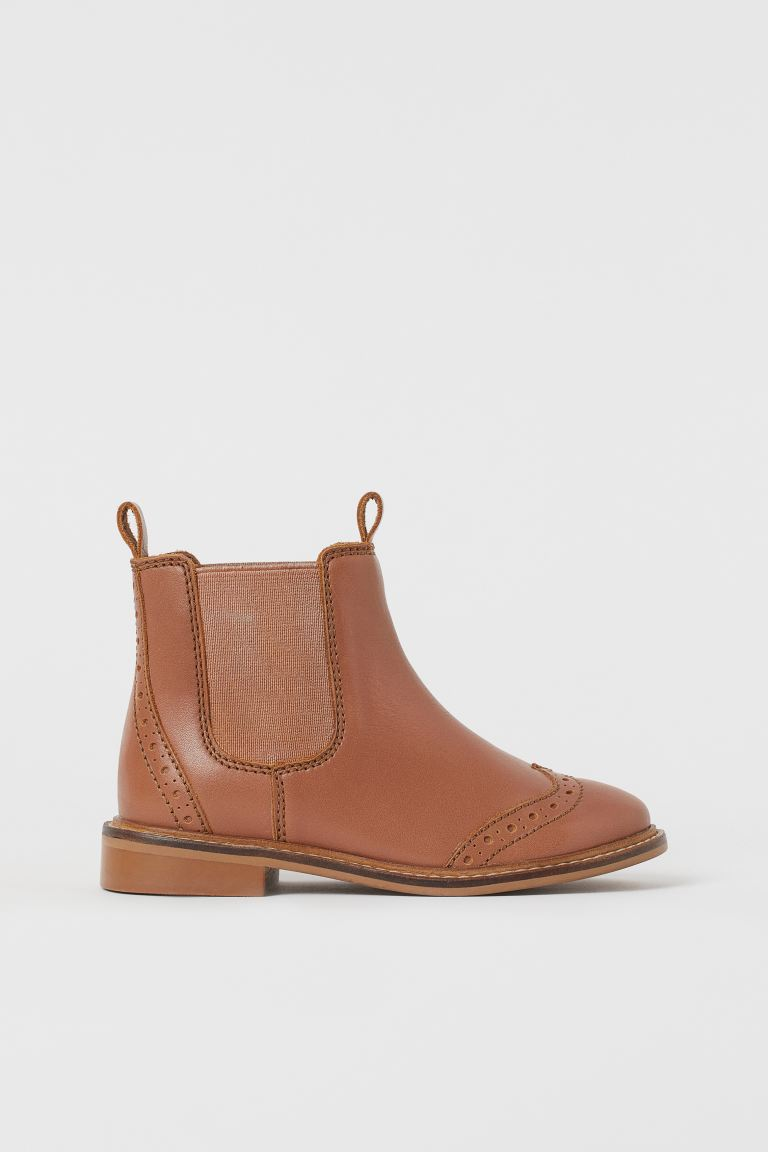 Leather Boots - Brown - Kids | H&M US