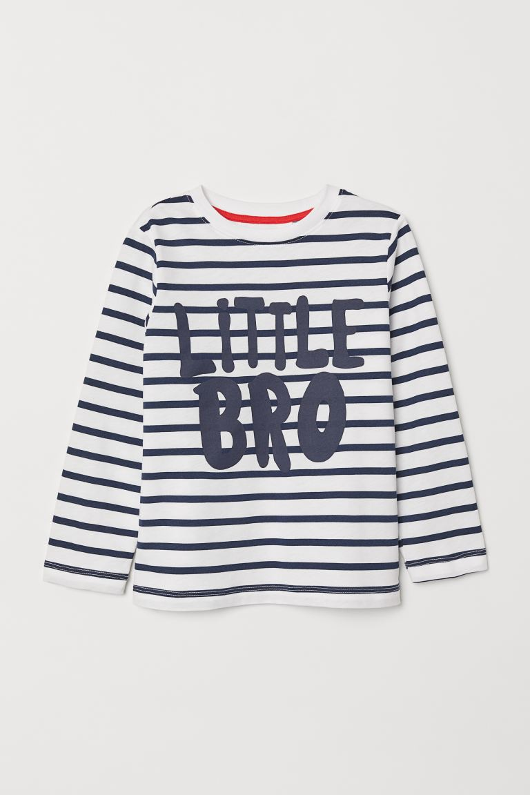 Sibling Shirt - Striped/Little Bro - Kids | H&M US
