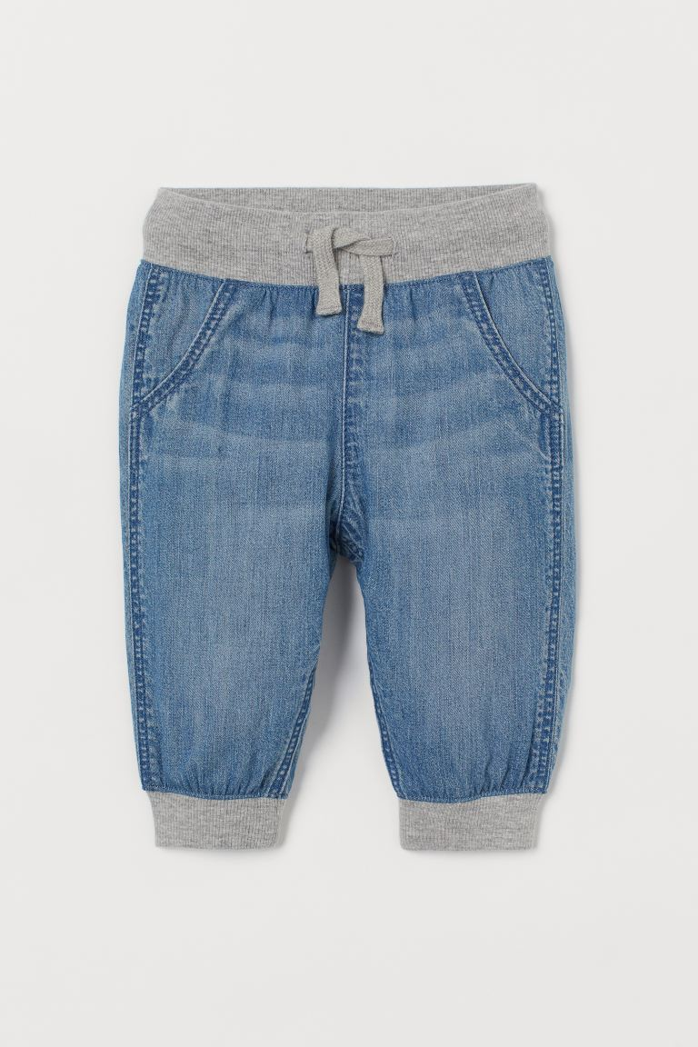 Pantalon jogger Loose Fit - Bleu denim/gris - ENFANT | H&M FR
