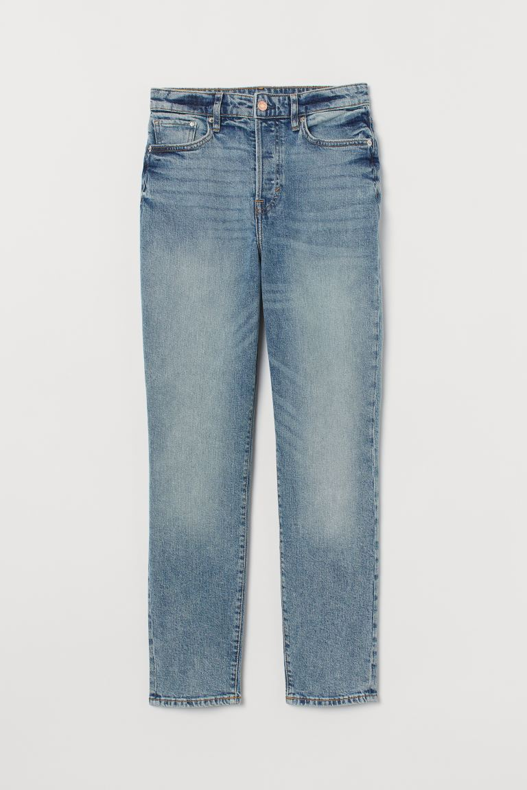 Mom High Ankle Jeans - Light blue - Ladies | H&M US