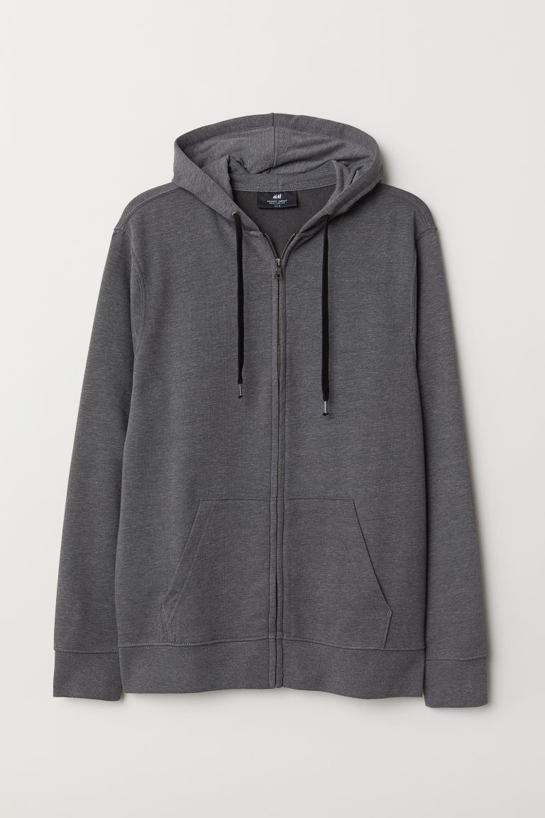 Regular Fit Hooded Jacket - Dark gray melange - Men | H&M CA