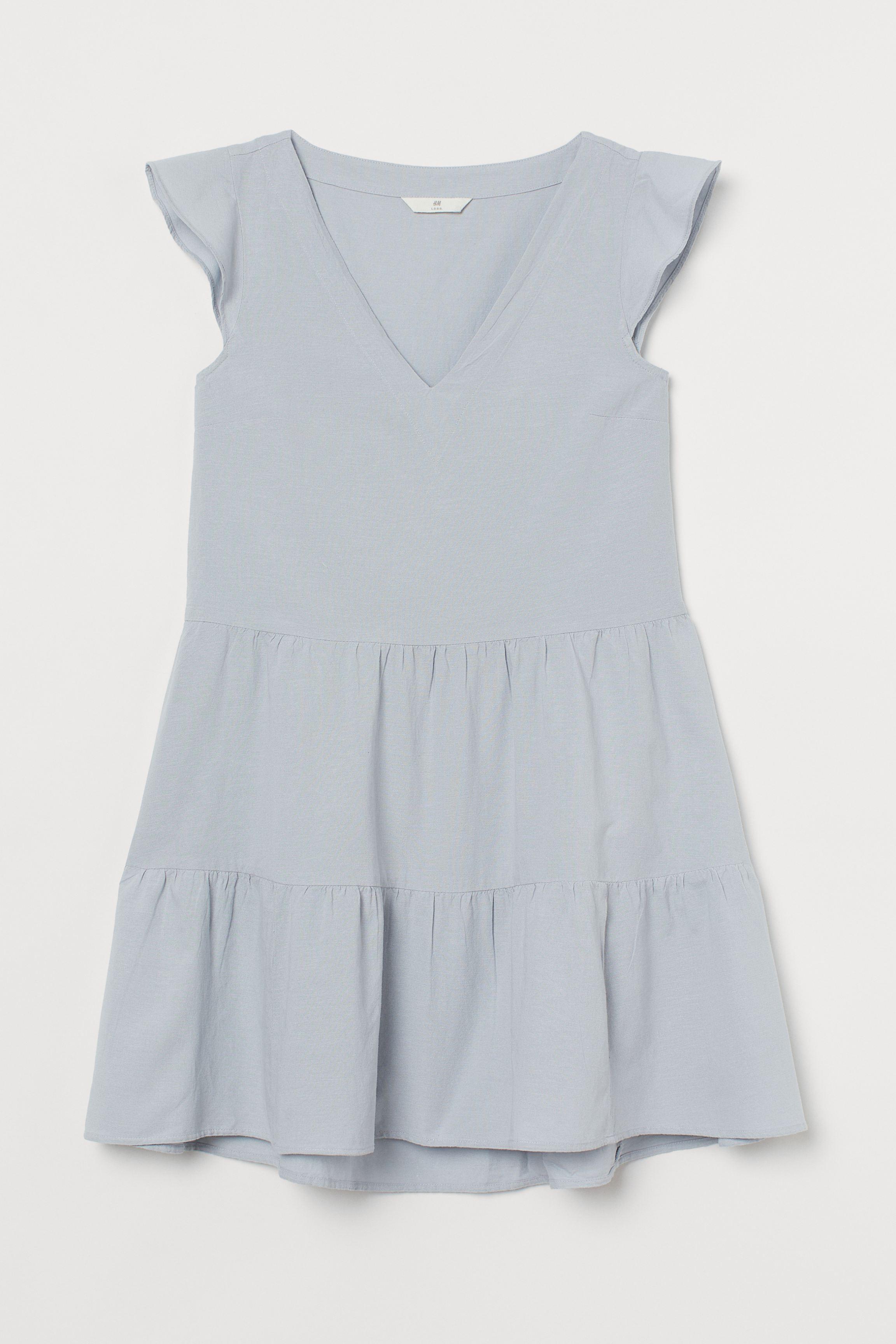 Flutter-sleeved Dress