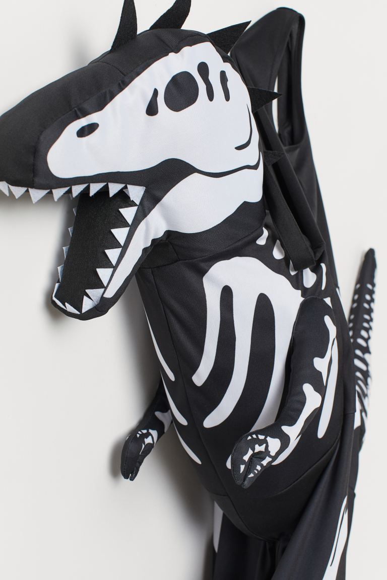 Dinosaur costume - Black/Dinosaur skeleton - Kids | H&M GB 2