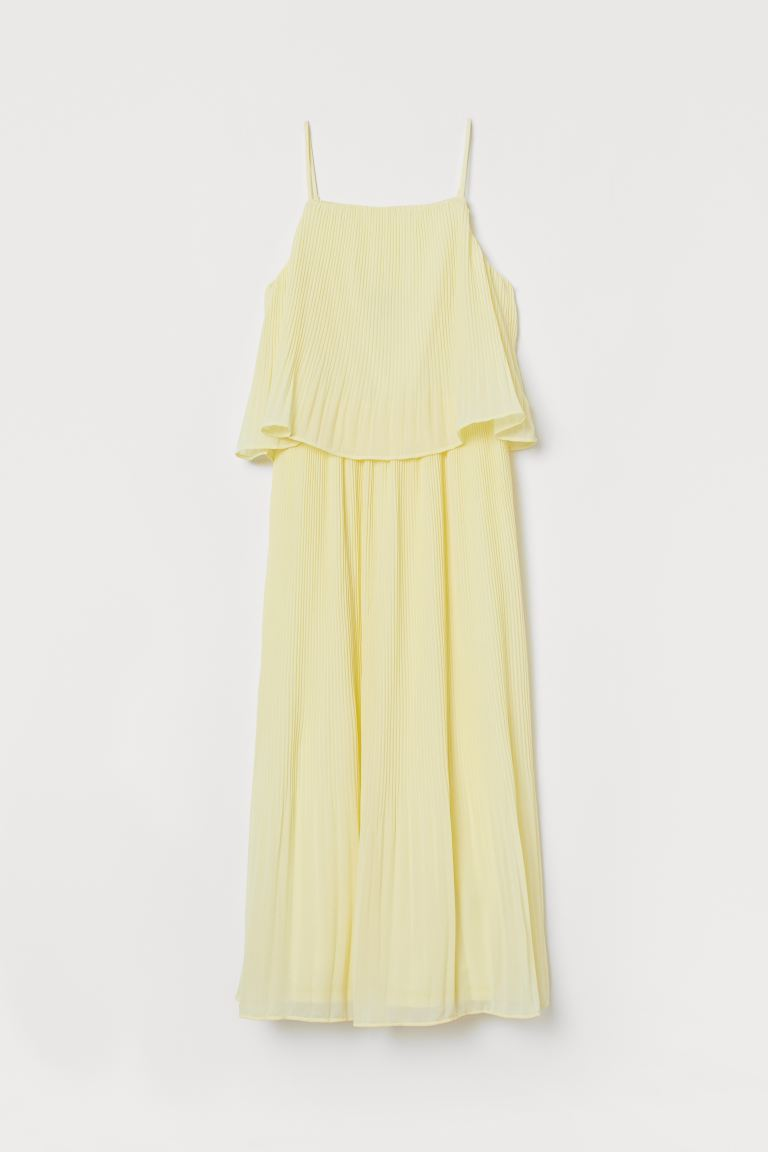 Pleated Dress - Yellow - Ladies | H&M US