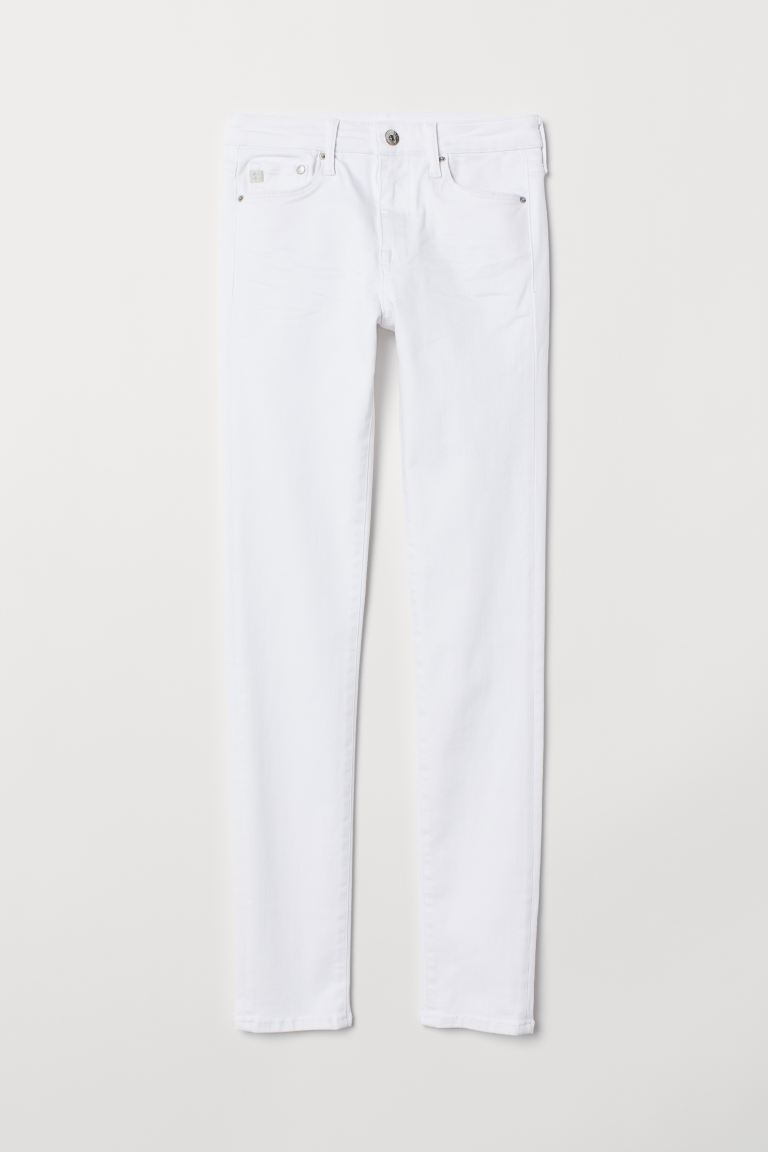 Shaping Skinny Regular Jeans - White - Ladies | H&M GB