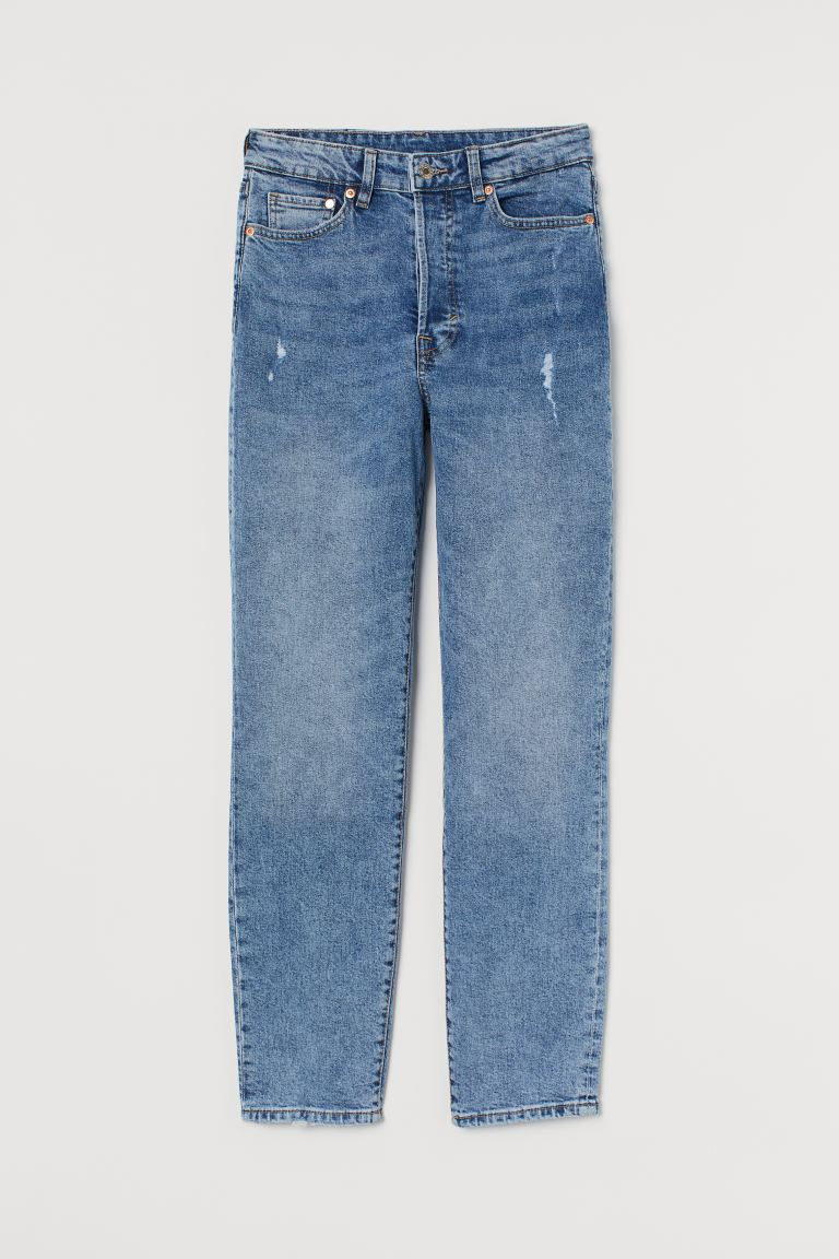 Mom High Ankle Jeans - Denimblauw - DAMES | H&M BE