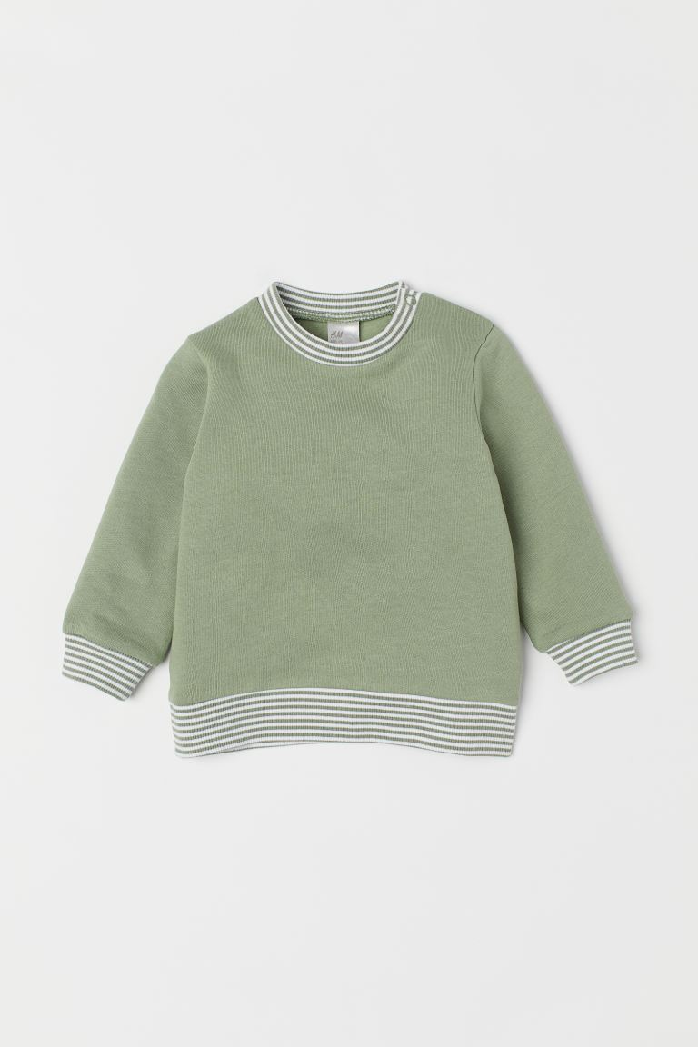 Cotton sweatshirt - Dusky green - Kids | H&M