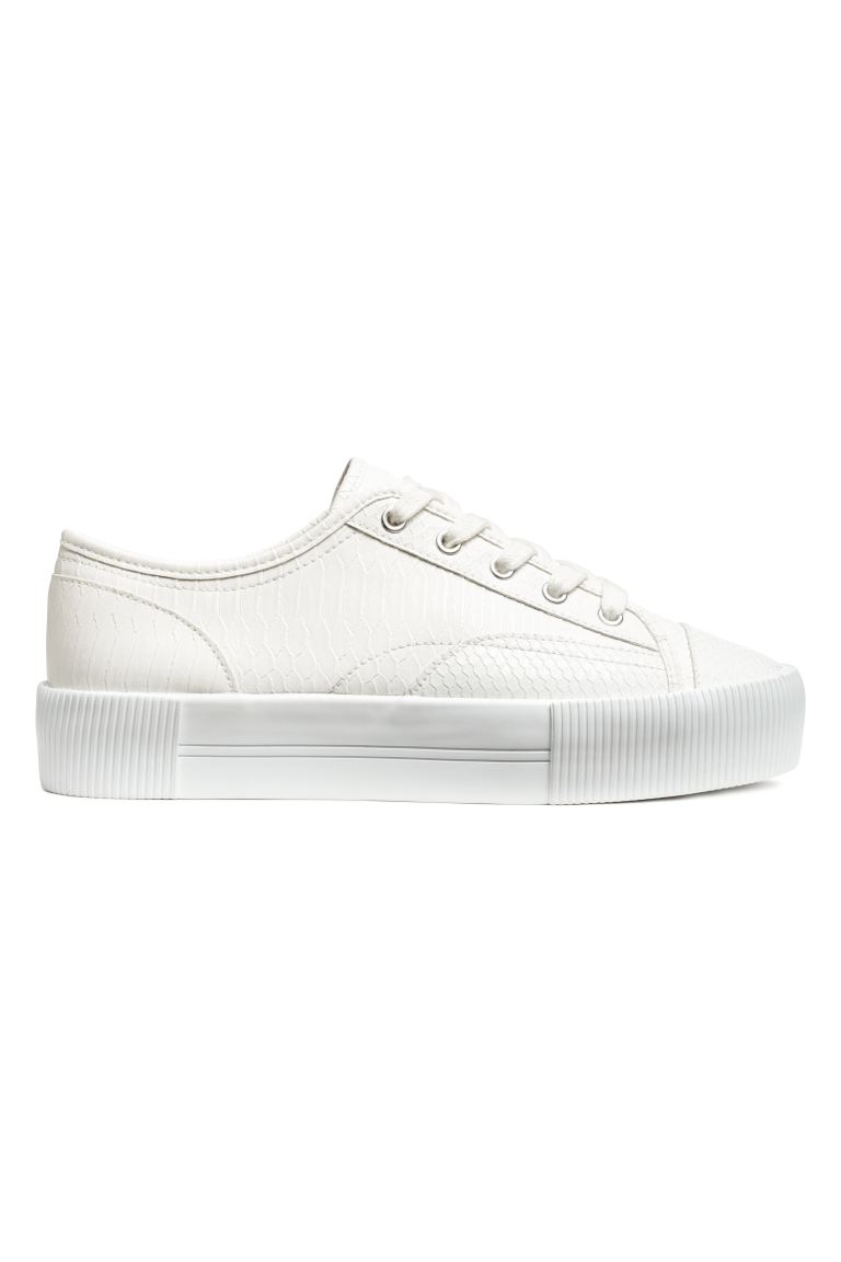 Plateausneakers - Wit - DAMES | H&M NL