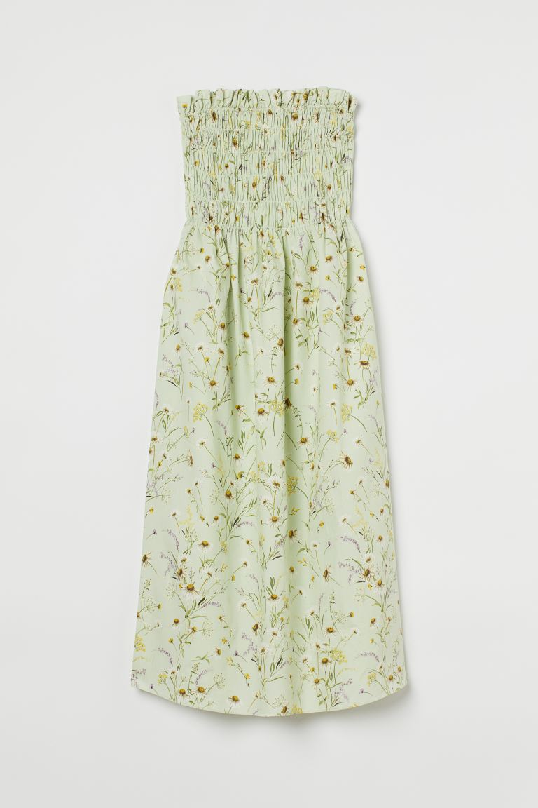 Smocked bandeau dress