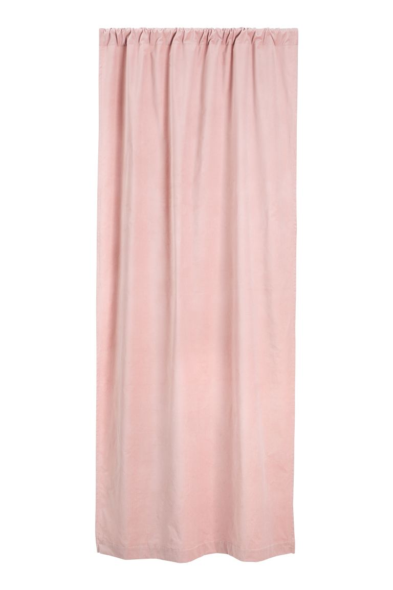 Rideau en velours - Rose - Home All | H&M FR