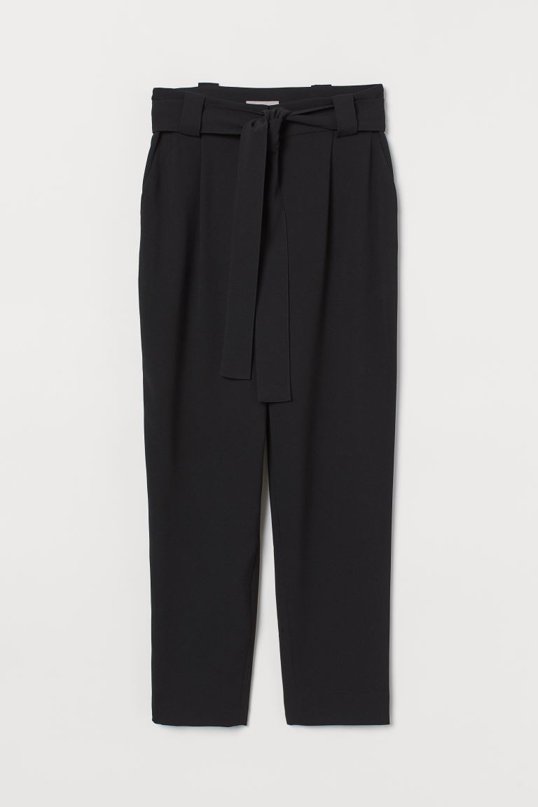 Ankle-length trousers - Black -  | H&M GB