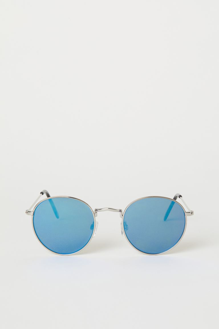 Sunglasses - Silver-coloured/Blue - Men | H&M