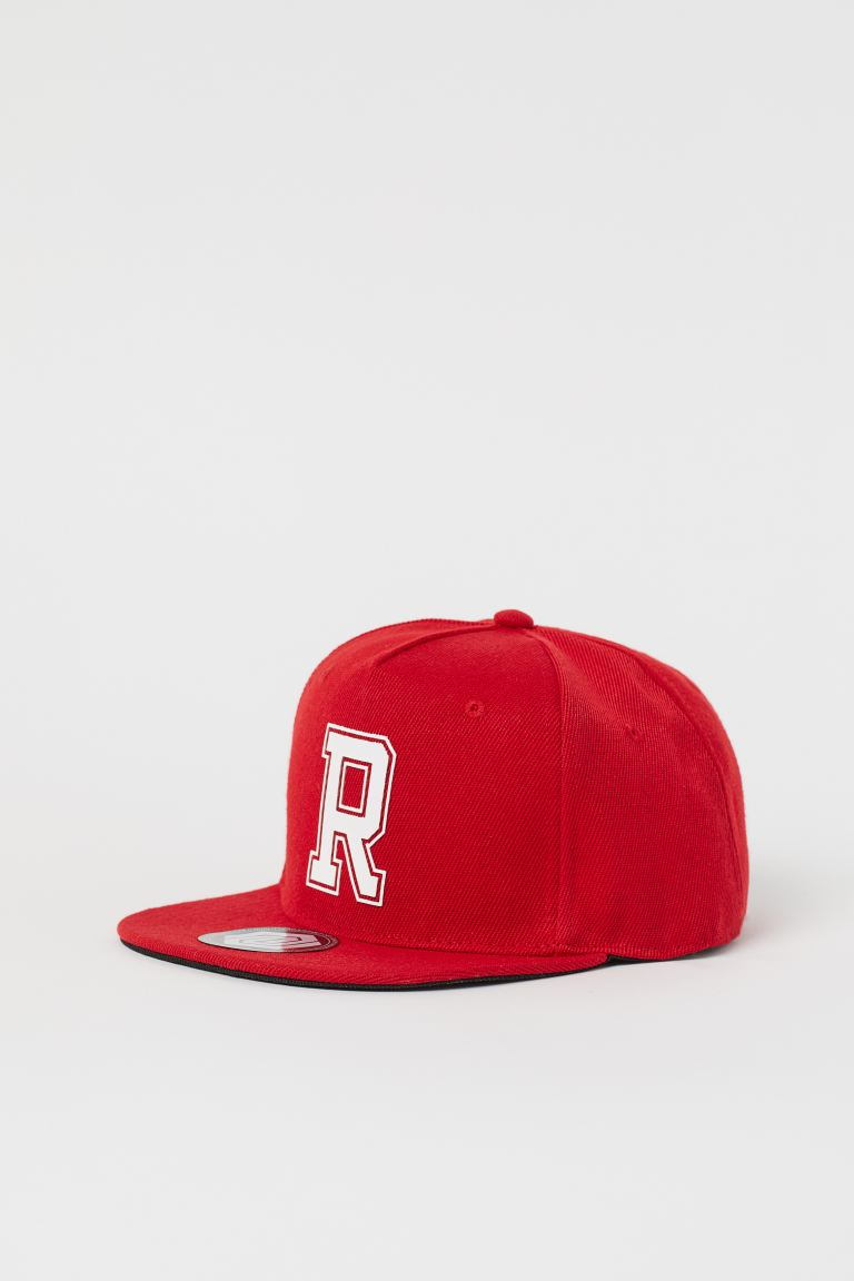 Cap with Motif - Bright red/R - Kids | H&M CA