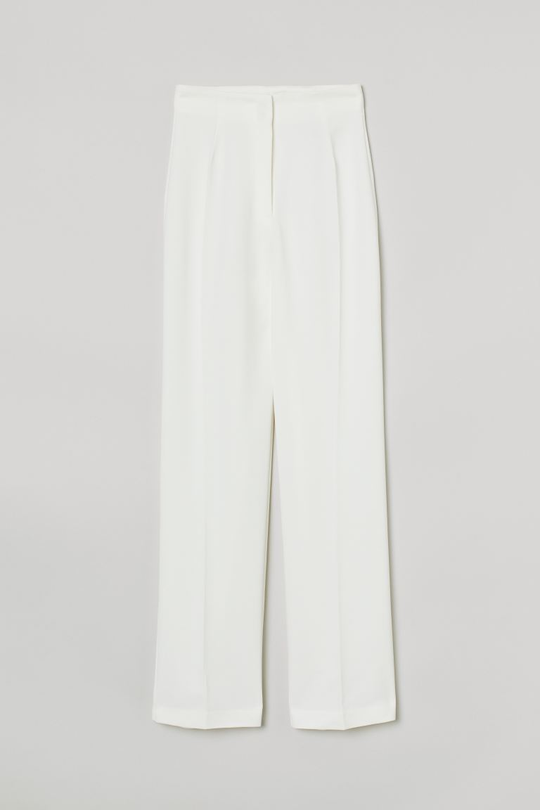 Tailored trousers - White - Ladies | H&M GB