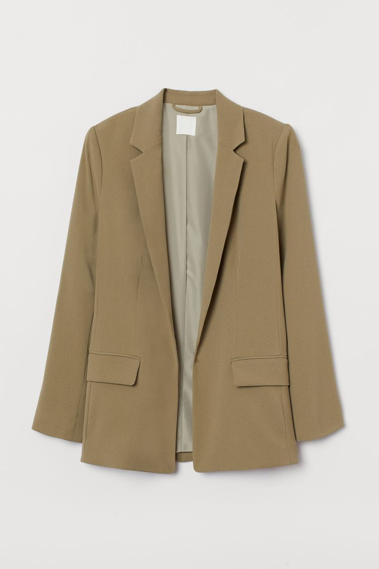 Long Jacket - Khaki green - Ladies | H&M US