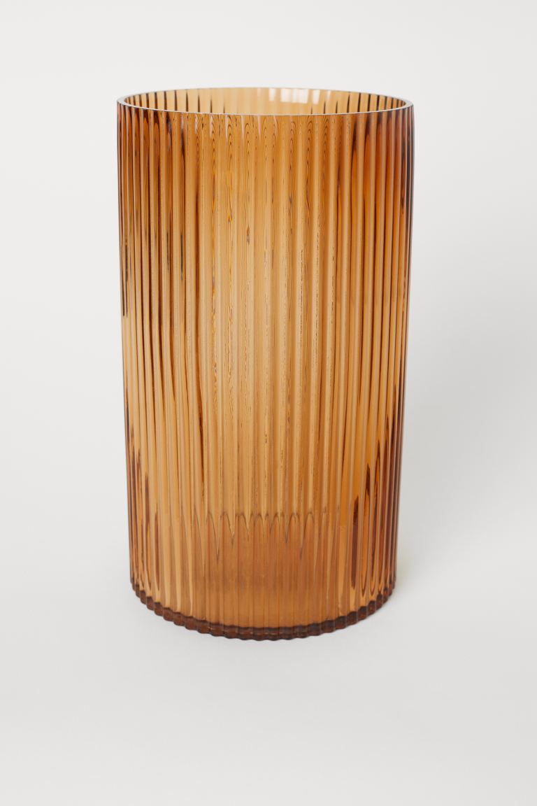 Large glass vase - Brown - Home All | H&M GB