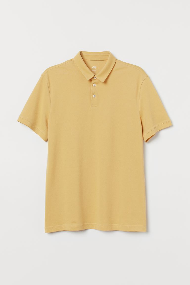 Polo COOLMAX® Slim Fit - Giallo chiaro - UOMO | H&M IT