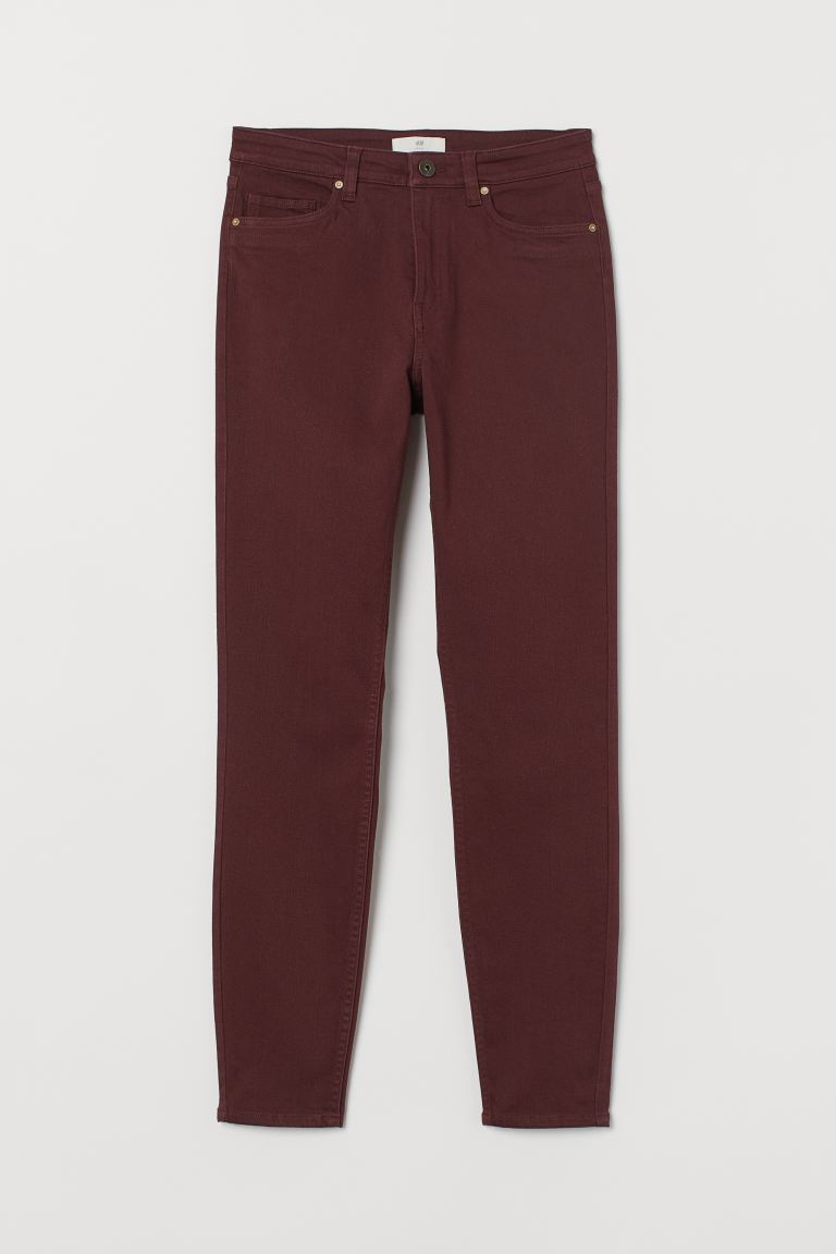 Pantalon stretch - Bordeaux - FEMME | H&M BE