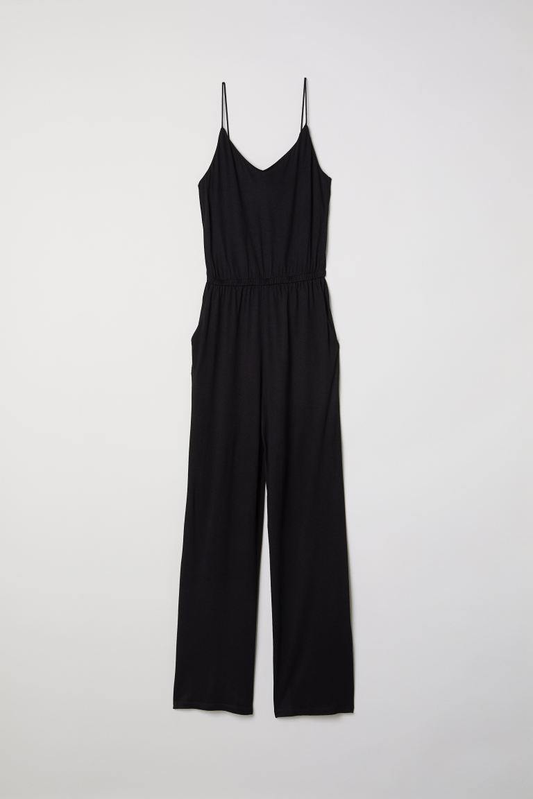 Jersey jumpsuit - Black - Ladies | H&M CA