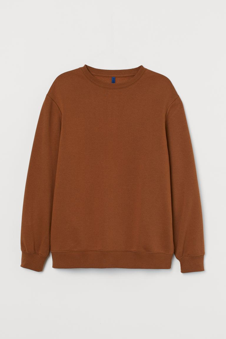 Sweater - Relaxed Fit - Bruin - HEREN | H&M BE