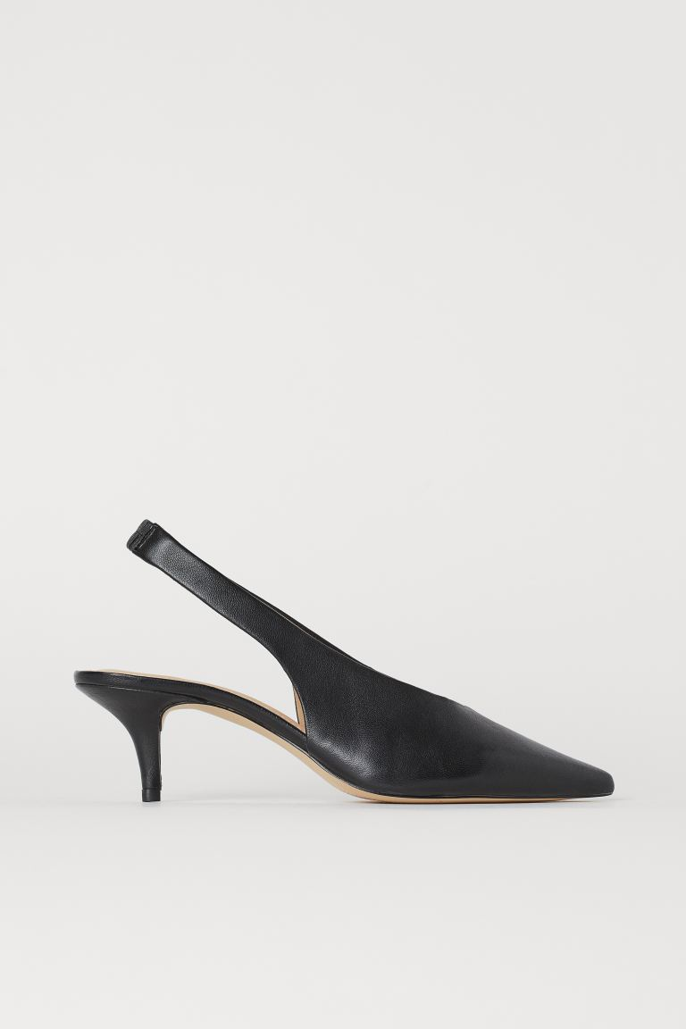 Slingbacks with pointed toes - Black - Ladies | H&M