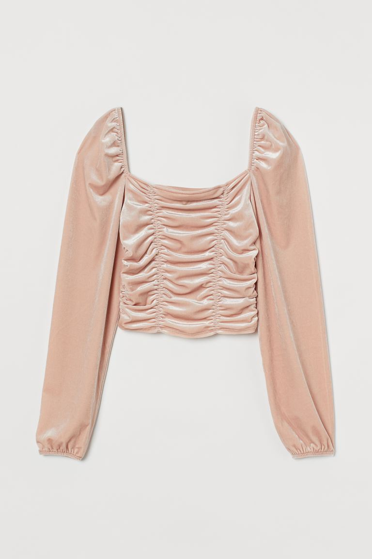 Cropped top - Powder pink - Ladies | H&M