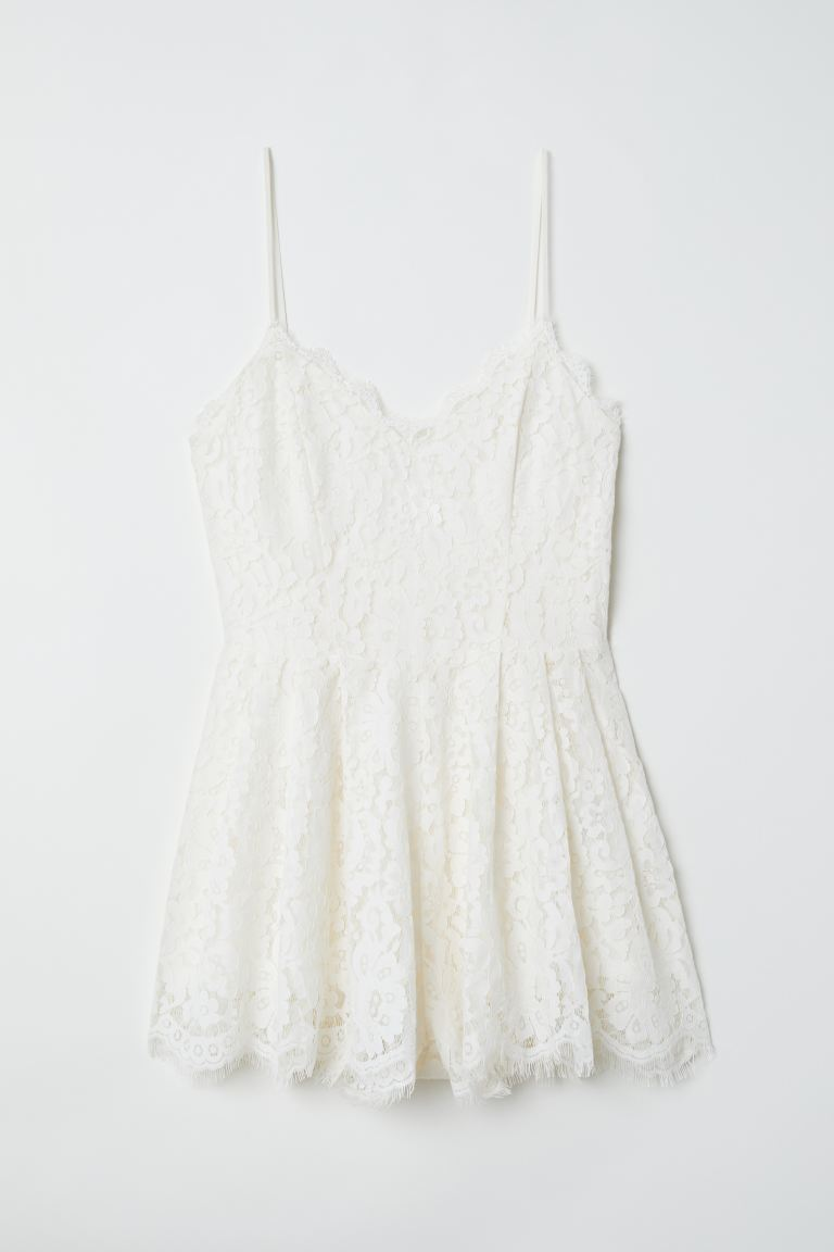Tuta corta - Bianco - DONNA | H&M IT