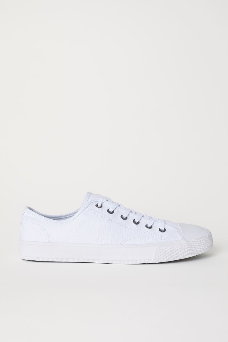 Canvas shoes - White - Men | H&M GB