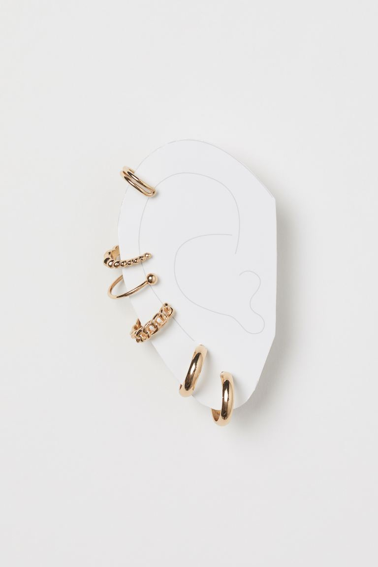Earrings and ear cuffs - Gold-coloured - Ladies | H&M