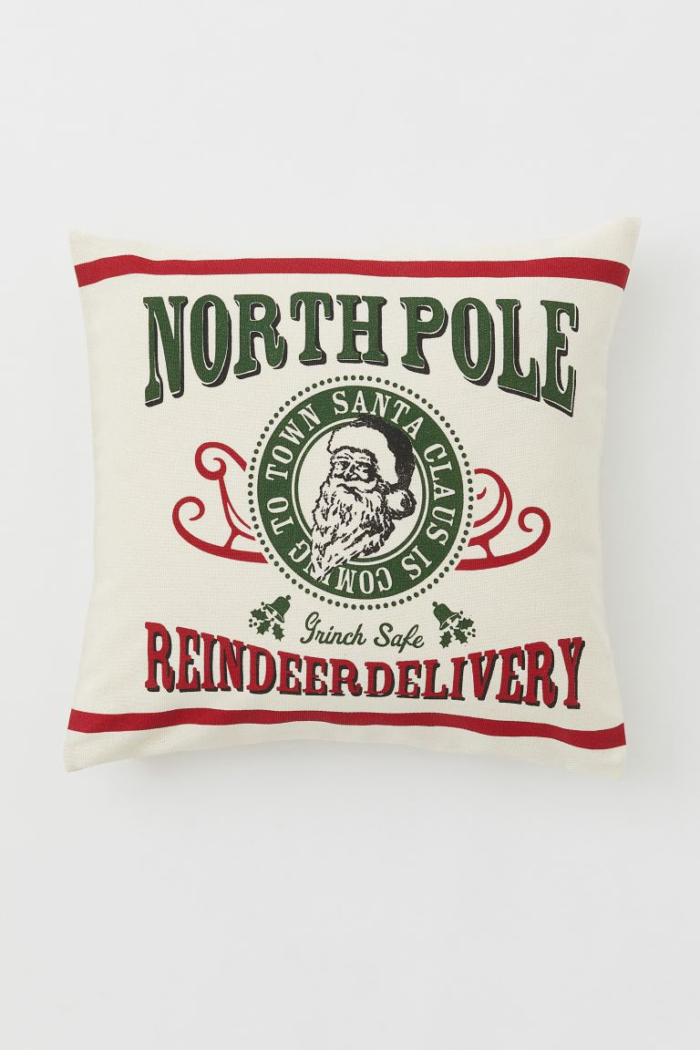 Copricuscino con stampa - Ecru/North Pole - HOME | H&M IT
