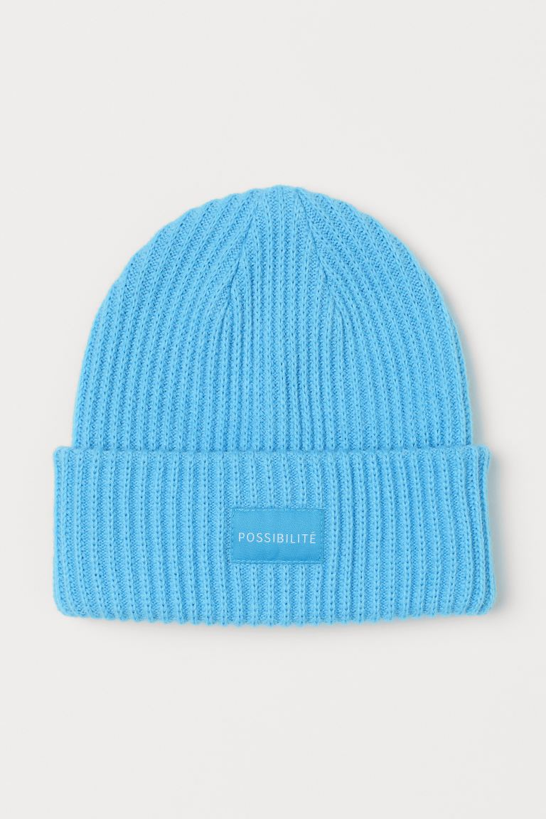 Ribbed hat - Light blue - Ladies | H&M