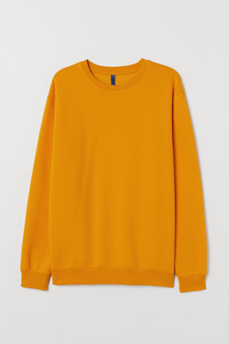 Sweatshirt Relaxed Fit - Dark yellow - Men | H&M