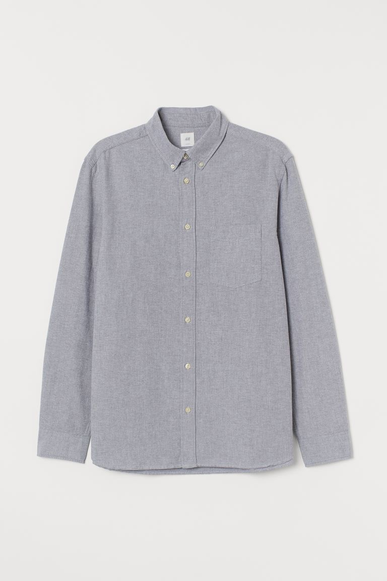 Oxford shirt Regular Fit - Light grey - Men | H&M