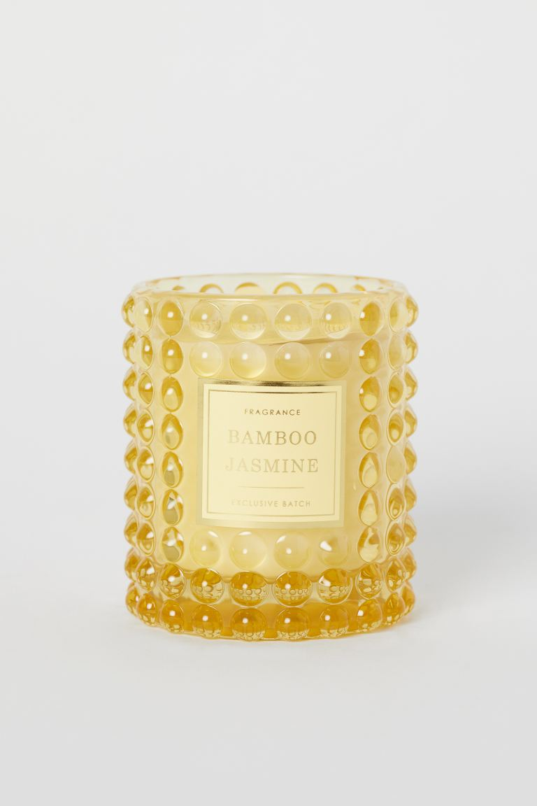 Duftlys i glassbeholder - Gul/Bamboo Jasmine - Home All | H&M NO