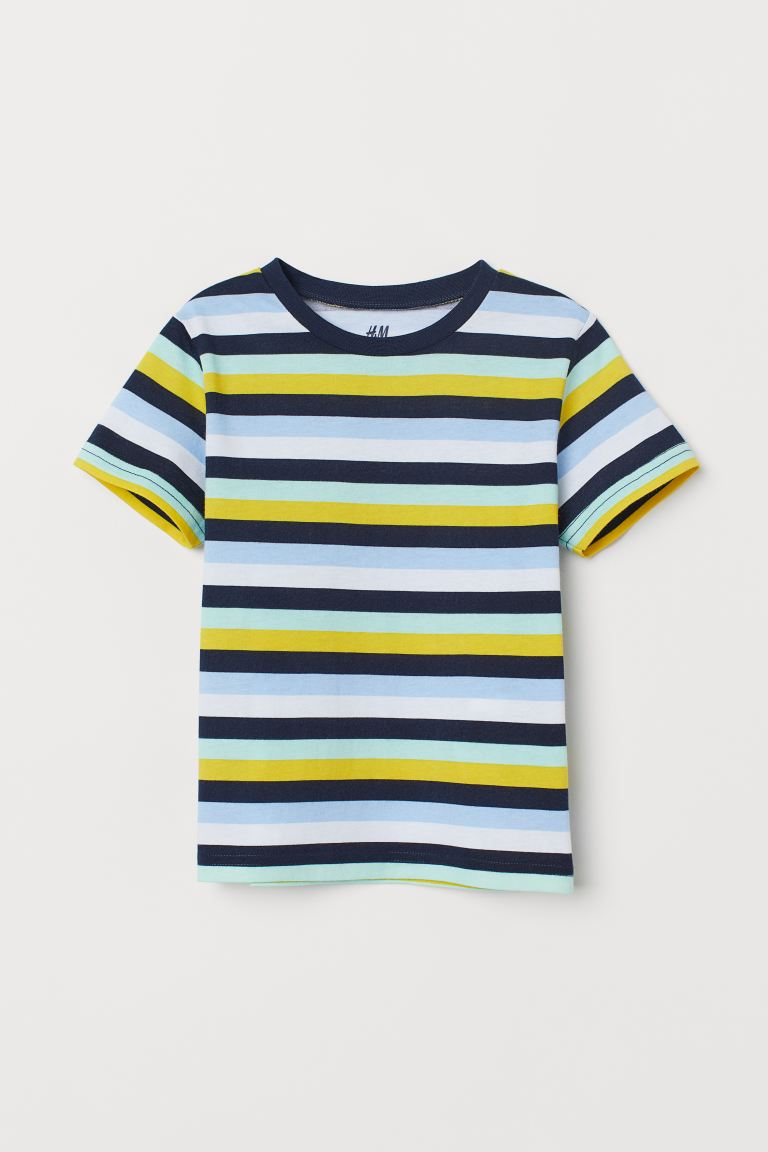 Cotton T-shirt - Blue/Striped - Kids | H&M