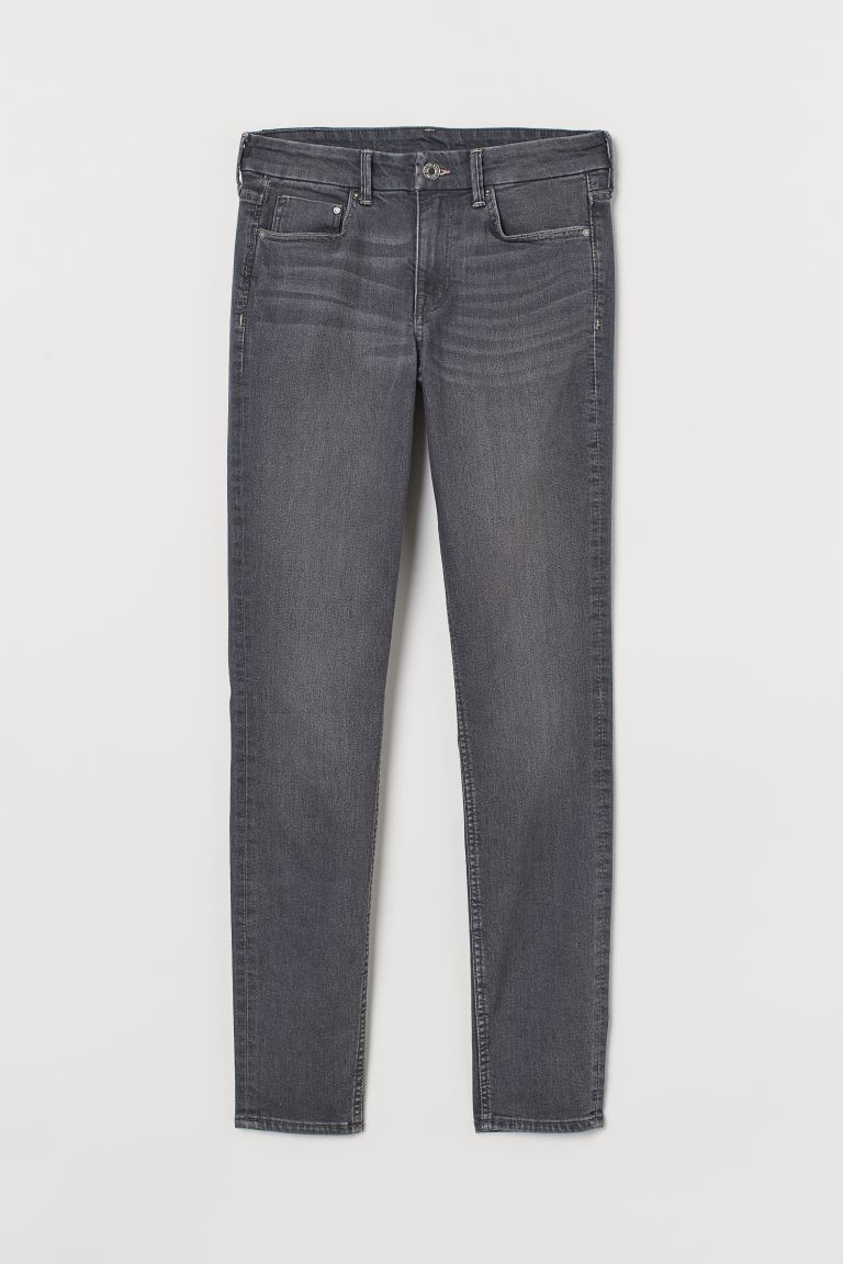 Skinny Regular Jeans - Gris oscuro - MUJER | H&M ES