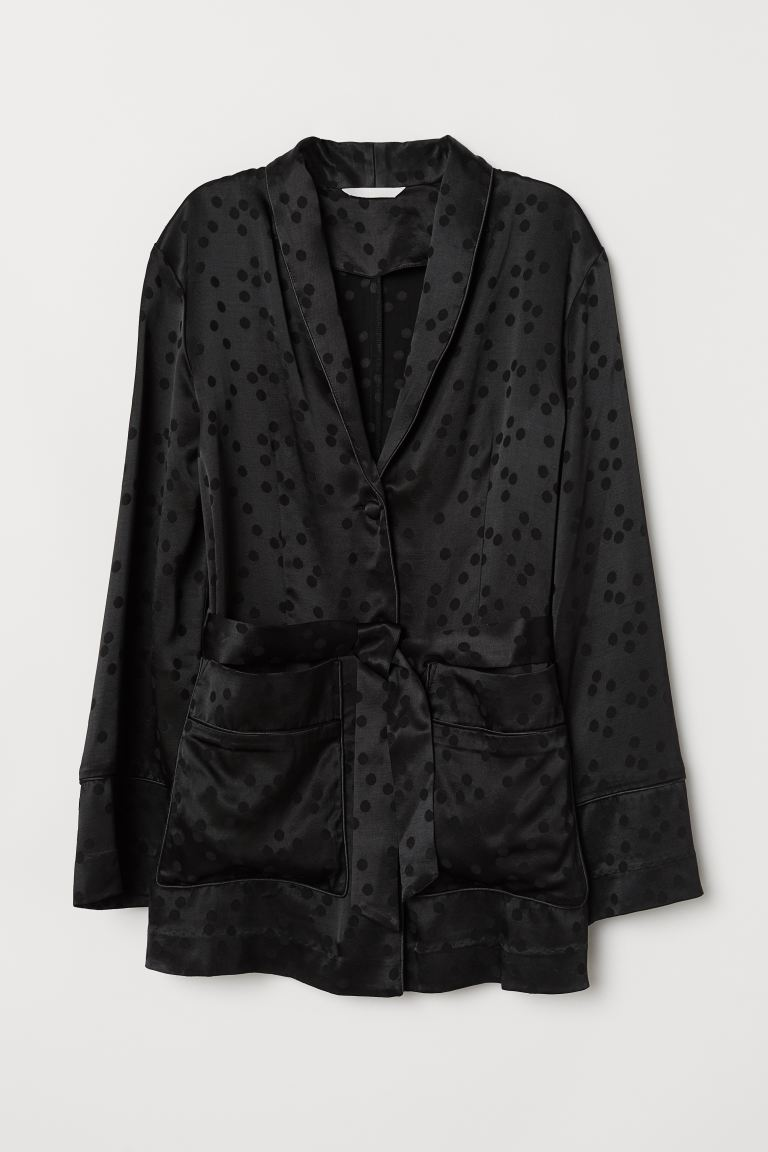 Jacquard-weave Blazer - Black - Ladies | H&M US