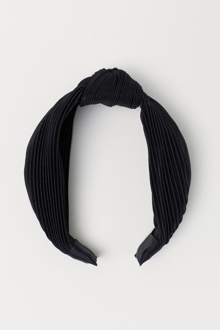 Alice band with a knot detail - Black - Ladies | H&M GB